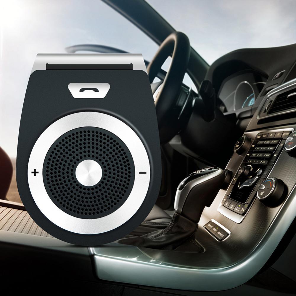 Мини-динамик для автомобиля, беспроводной динамик для телефона, Bluetooth, гарнитура, козырек, крепление на клипсе, автомобильный динамик, телеф...