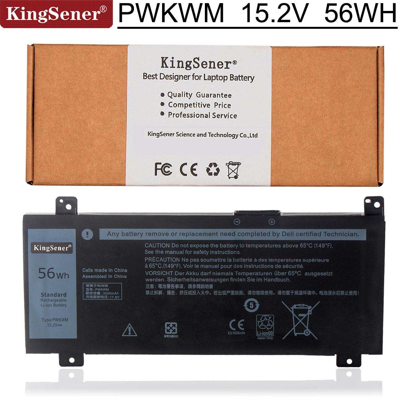 Kingsener PWKWM 15.2V 3500mAh Laptop Battery For DELL Inspiron 14-7466 14-7467 Series PWKWM P78G001
