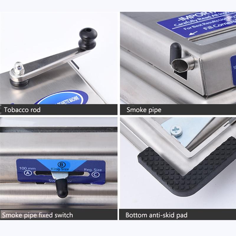 6.5mm Tube Manual Cigarette Rolling Machine Stainless Steel Hand-crankTobacco Roller DIY Smoking Tool Men Original Gadgets Gifts enlarge