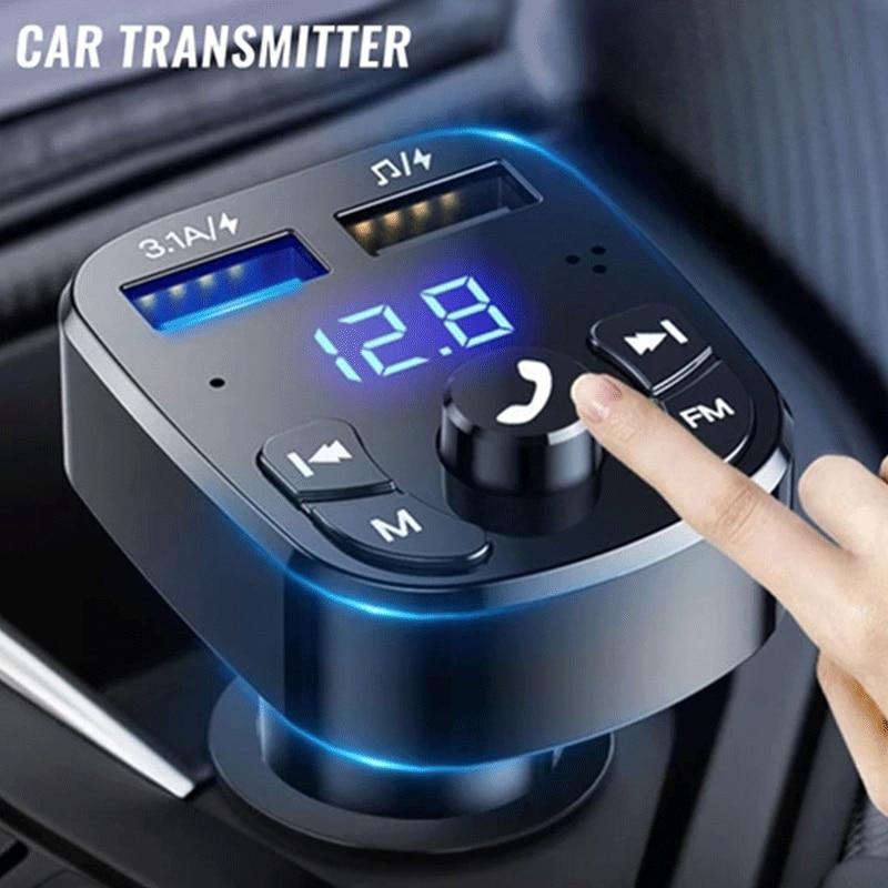 Автомобильный Bluetooth MP3-плеер, автомобильный FM-передатчик, автомобильный громкой связи, музыка, U-диск, Bluetooth-совместимая Версия 5,0, FM-передатчи...