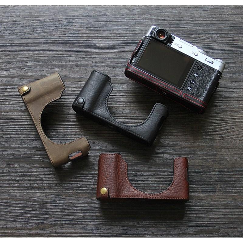 Funda de cuero Fuji X100V Fuji X100v, Funda de cuero X100v, funda protectora X100V, bolsa para cámara, Funda de cuero Semi-funda