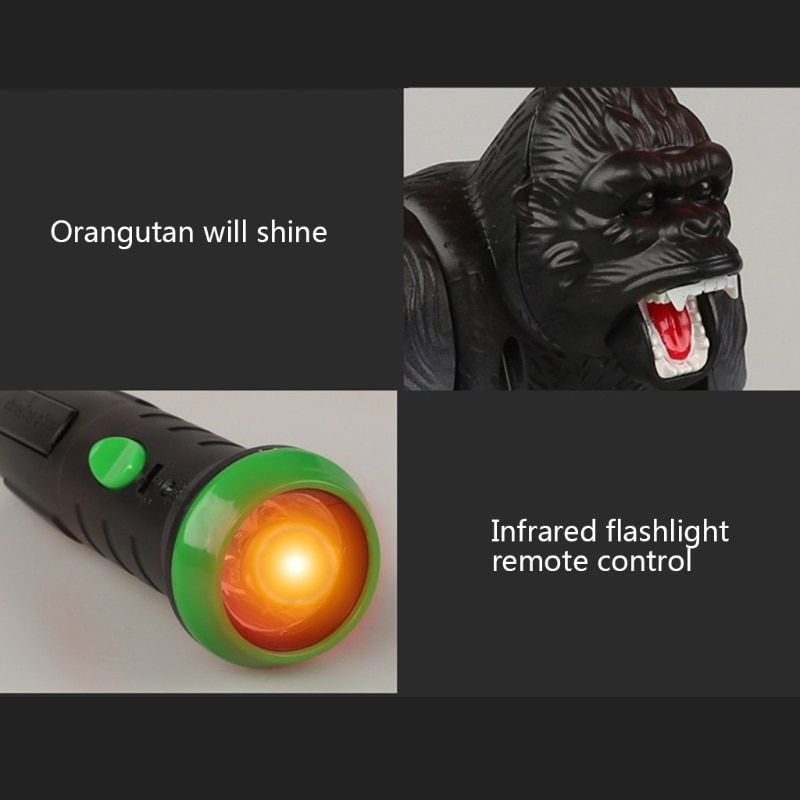 Lighting Infrared RC Gorilla Simulative Remote Control Animal Electric Toy with Sound Funny Kids Gift Children Toys enlarge