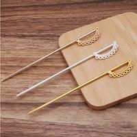 5pcs 120mm porous hair fork hair sticks hair pin hairpins needle headwea jewelry findings diy hair accessories wholesale