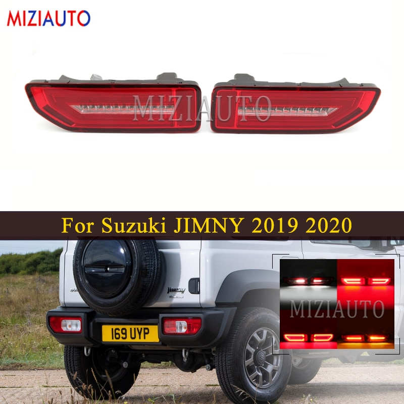 1 Pair LED Rear Tail Light for Suzuki JIMNY 2019 2020 Rear Stop Turn Signal Fog Rear Bumper Light Tail Brake Lamp Car Supplies led rear tail lights for ford transit 2014 tail stop brake lights european version car accessories rear turn signal fog lamp