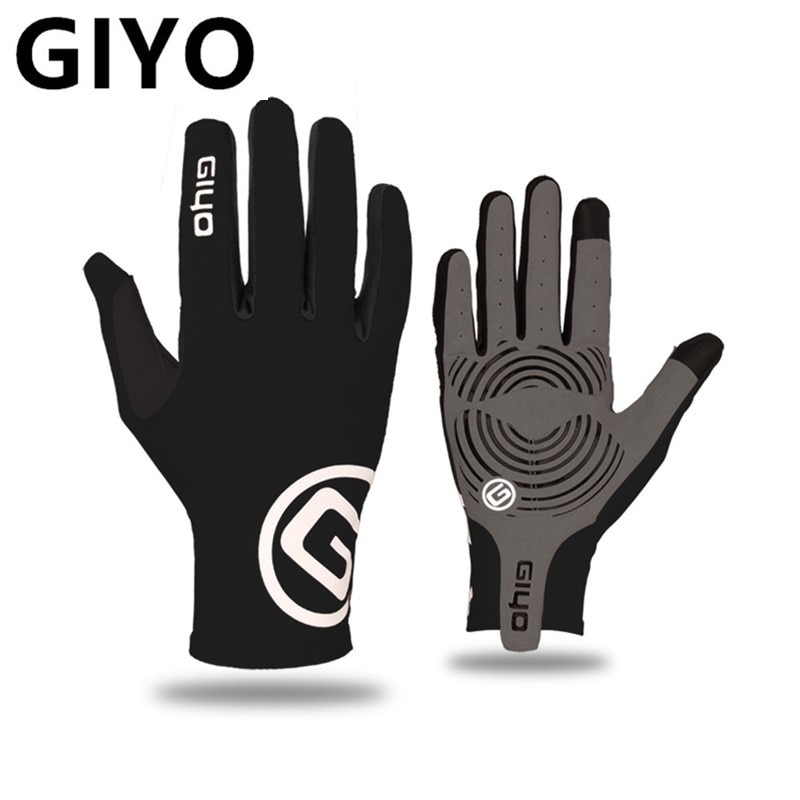 GIYO Touch Screen Long Full Fingers Gel Sports bike Cycling Gloves MTB Road Bike Riding Racing Glove