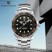 2021 new 007 pagani design men watch top brand luxury sapphire crystal men mechanical wristwatches 100m waterproof orologio uomo