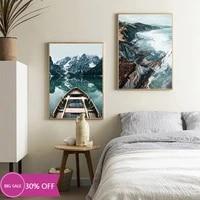 Toile de decoration de noel  affiches dart murales de forets  montagnes  lacs  tableau pour decoration de salon  decoration de maison