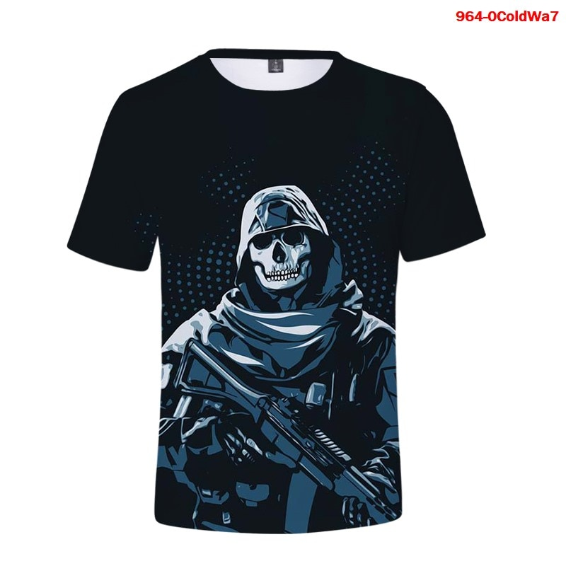 Camisetas de Call of Duty Black Ops para verano, camiseta de manga...