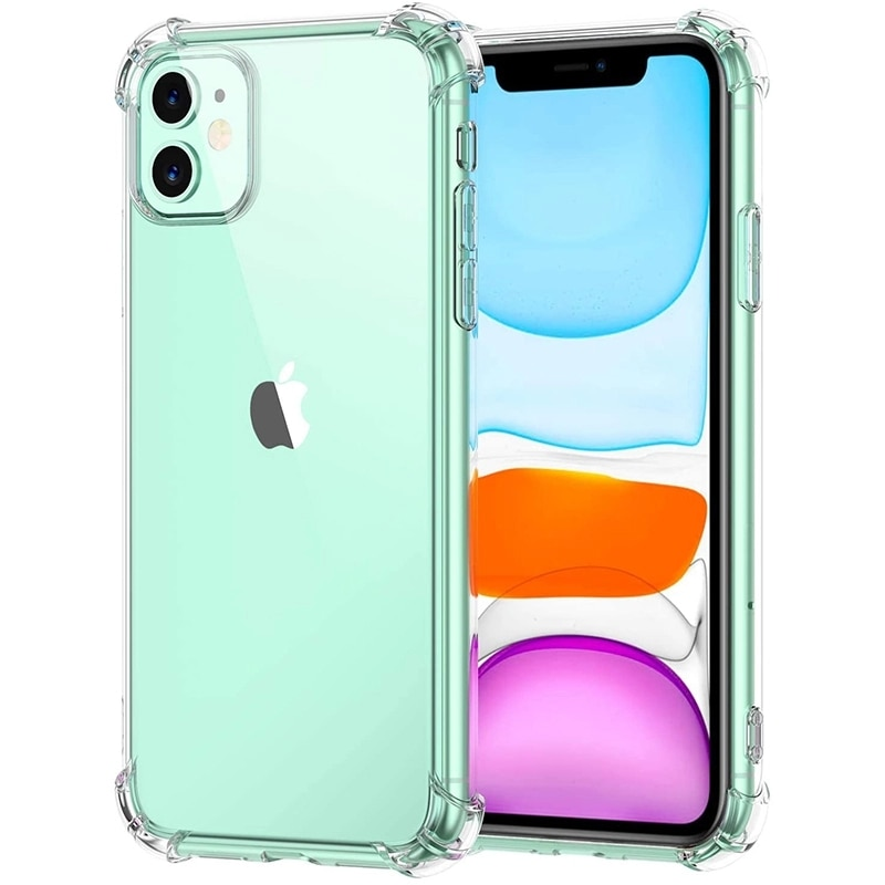 Luxury Transparent Shockproof Silicone Case For iPhone 12 11 Pro Max XR Xs Max Case 6 7 8 Plus 12 Mi
