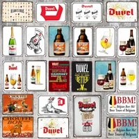 Biere belge En Metal s Plaque Metal Retro Bar Maison Art Retro Artisanat Decor de Cinema 30X20CM DU-6741A