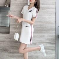 dress women 2021 new womens summer mid length korean version was thin sports casual skirt plus size vestido feminino