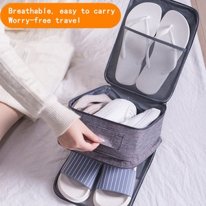 Portable travel storage bag travel bag waterproof footwear finishing bag leather shoes sports shoes high heels slippers storage