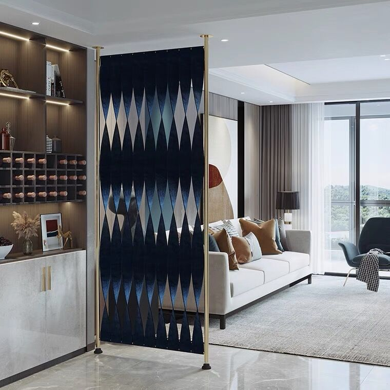شاشات فاخرة من الفولاذ المقاوم للصدأ ، أقسام المدخل ، ملاجئ غرفة المعيشة وغرفة النوم ، شاشات جلدية معدنية منزلية