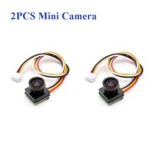 2 uds Mista 1000TVL 2,8mm 600TVL 1/4 CMOS 1,8mm Super Mini 170 grados 1200TVL 150 grados Cámara FPV de Audio para Drone RC avión