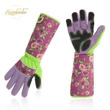 NICROLANDEE femmes taille à manches longues gants de jardin résistant à la perforation gant de coupe pour jardinier fleuriste fleur plantation Yard