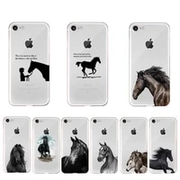the great beauty horse phone case for iphone x xs max 6 6s 7 7plus 8 8plus 5 5s se 2020 xr 11 12pro max clear coque