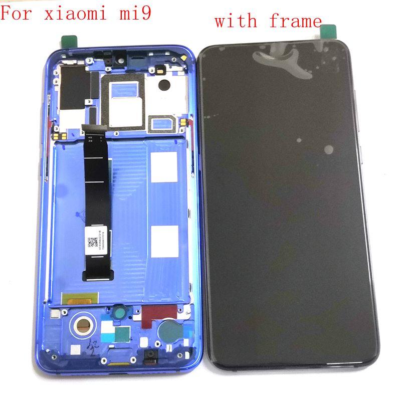 Pantalla Lcd Amoled de 6,39 pulgadas para Xiaomi Mi9 marco digitalizador de cristal táctil completo para pantalla xiao mi 9 M1902F1G