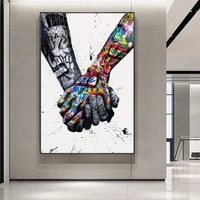 street graffiti art lover hands canvas posters art canvas paintings inspiration artwork wall pictures for living room cuadros