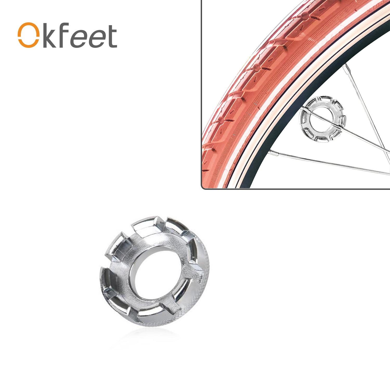 Accesorios de bicicleta portátil, llave de radios, llanta de rueda de bicicleta, llave de radios de bicicleta, llave fija para bicicleta de montaña MTB