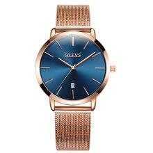 Olevs Womens Horloges Luxe Fashion Casual Waterdicht Rose Gold Mesh Band Dames Armband Quartz Horloges Geschenken Voor Vrouwen