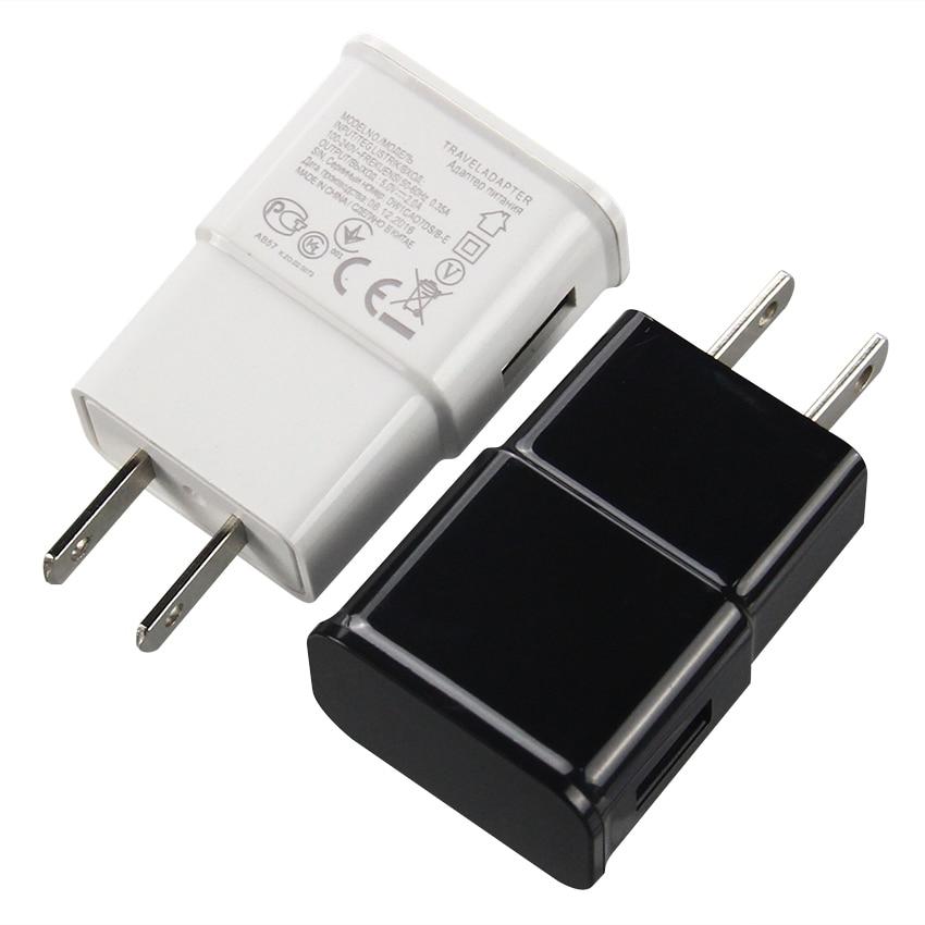 100 unids/lote 5V 2A 1A AC Puerto USB cargador de pared para teléfono 2 Amp adaptador de viaje enchufe de EE. UU. UE para iPhone X 8 7 Samsung S9 Smartphone