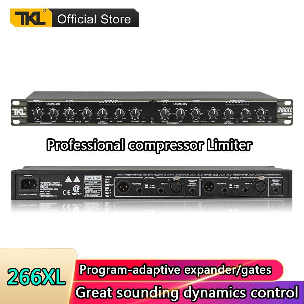 Equipo de sistemas de sonido TKL, maximizador profesional de precisión de audio dj, limitador de compresor de doble canal, limitador de altavoz 266XL