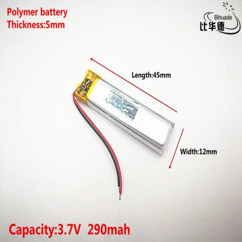 Buena calidad 3,7 V, 290 mAH, 501245 polímero de litio ion/batería de iones de litio para juguete, Banco de energía, GPS, mp3, mp4