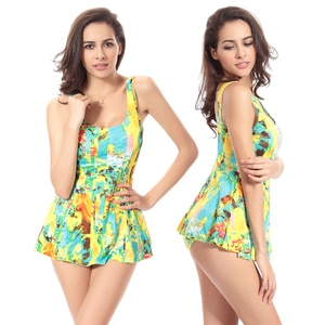 Traditional Female Favorite Sexy Vintage Allover Prints 2020 Fully Lined Push Up One Piece Big Women Plus Size Swimsuit XXXL