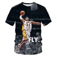summer mens cotton basketball shirt loose and comfortable 3d short sleeved t shirt all kinds of slam dunk cool poses