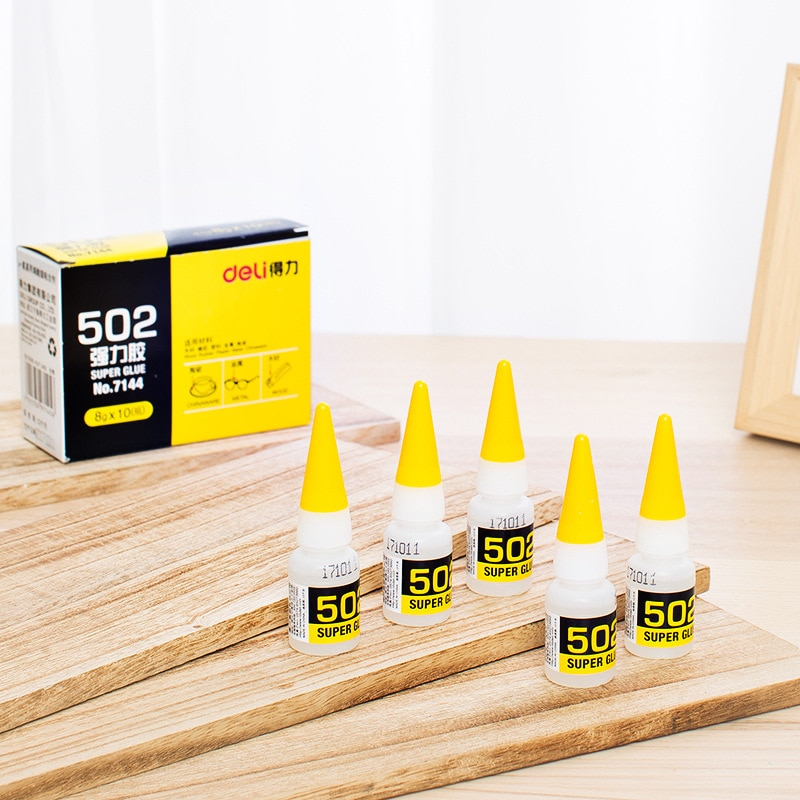 Instant Quick-drying Cyanoacrylate Adhesive Strong Bond Fast Leather Rubber Metal 8g Office Supplies  502 Super Glue 1pcs 502 super glue instant quick dry cyanoacrylate strong adhesive quick bond leather rubber office supplies fast glue dropship