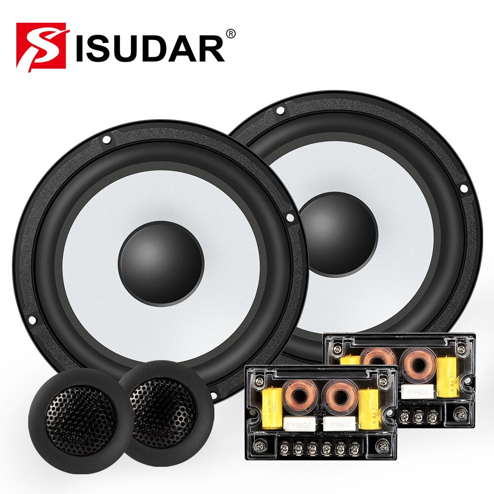 ISUDAR SU601 Car Component Speaker System 6.5 Inch 2 Way Vehicle Door Auto Audio Stereo Speakers Set