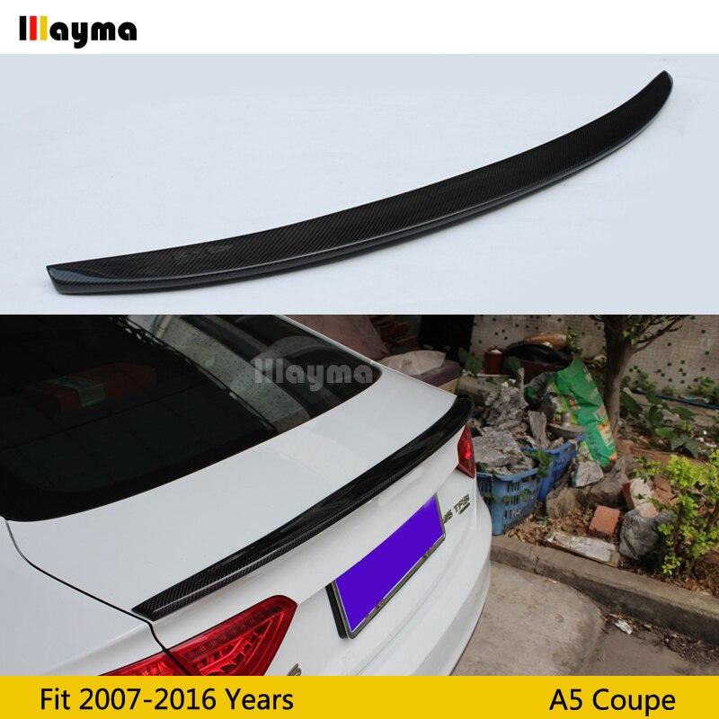 Alerón trasero de fibra de carbono estilo S5 para Audi A5 coupe de 2 puertas 2007-2016 años alerón del coche (no apto Sline s5 rs5)