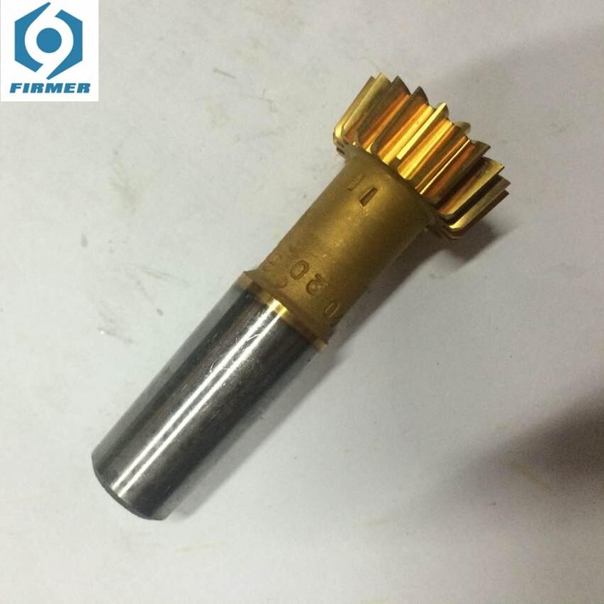 Taper-shank straight tooth gear shaper cutter D25mm m1 m1.25 m1.5 m1.75 m2 m2.25 m2.5 m25 m3 m4