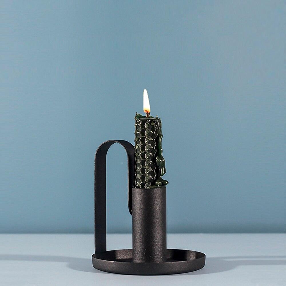 Chandelier cône bougeoir Anti rouille rétro fer bougeoir Vintage candélabres support chandelle dîner pour fête mariage