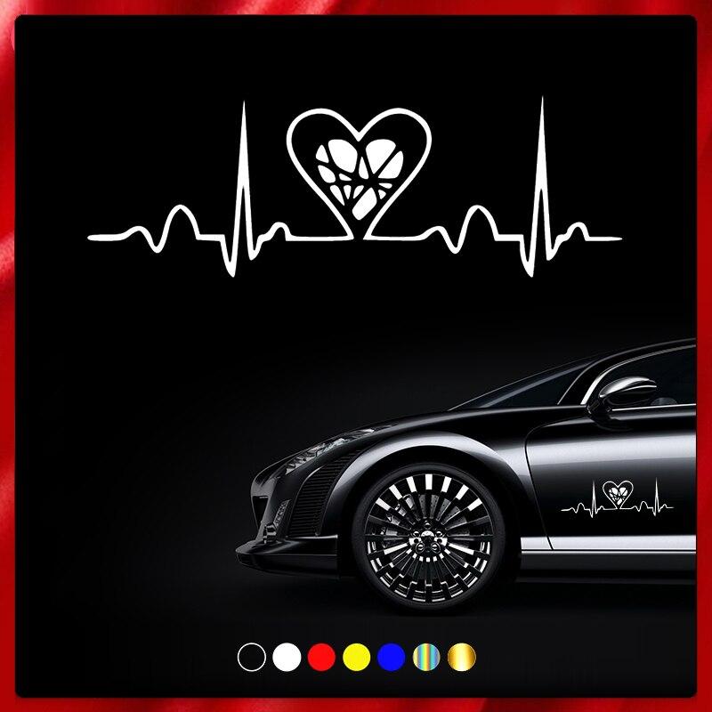 40373# наклейки на авто Ритм сердца водонепроницаемые наклейки на машину наклейка для авто автонаклейка стикер этикеты винила наклейки стайл...