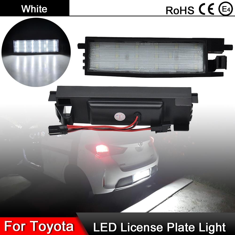 Lumière de plaque d'immatriculation LED, 1 paire, pour Toyota Auris Aygo Avalon Corolla Yaris Solara Camry Rav4 Vanguard Scion