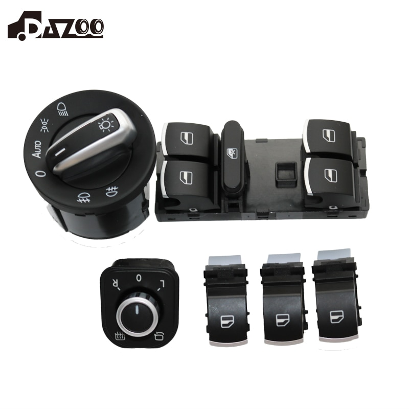 DAZOO зеркало фары переключатель управления окном для J etta 6 Golf 5 6 Touran Tiguan Caddy Passat B6 CC 5ND 959 857