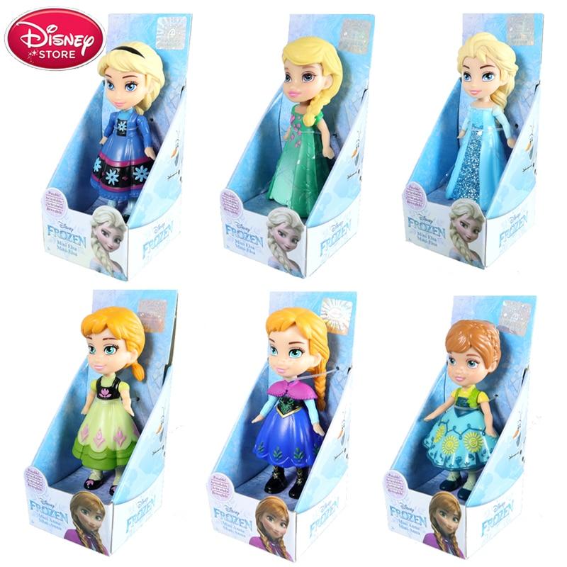 Genuine Disney Frozen 2 Figurine with Box 2019 New Princess Anna Elsa Action Figures Frozen Elza PVC Model Kids Girls Toys Gift