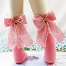 0-8years enfants coton chaussettes genou haute bambins filles chaussette grands arcs doux infantile bébé Long Tube chaussette enfants école