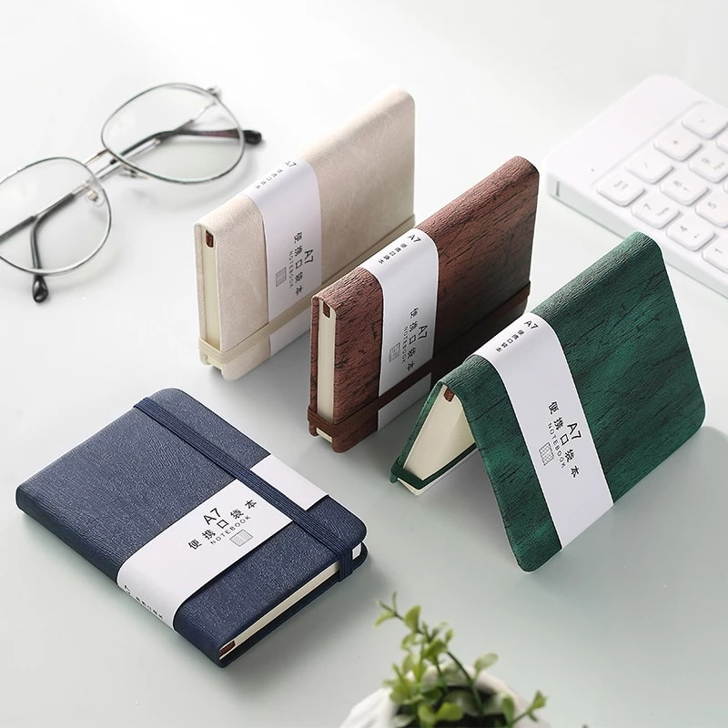 1Pcs A6/A7 Mini Notebook Portable Pocket Notepad Memo Diary Planner Agenda Organizer Sketchbook Office Stationery 100 Sheet notebook stone by stone a6 100 100