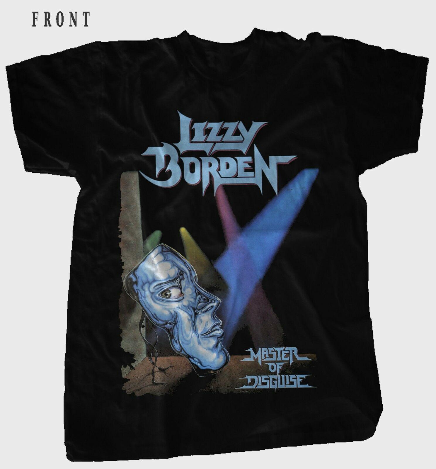 Lizzy Borden-maestro del disfraz-banda de Heavy Metal negro T_Shirt-SizesS a 6Xl