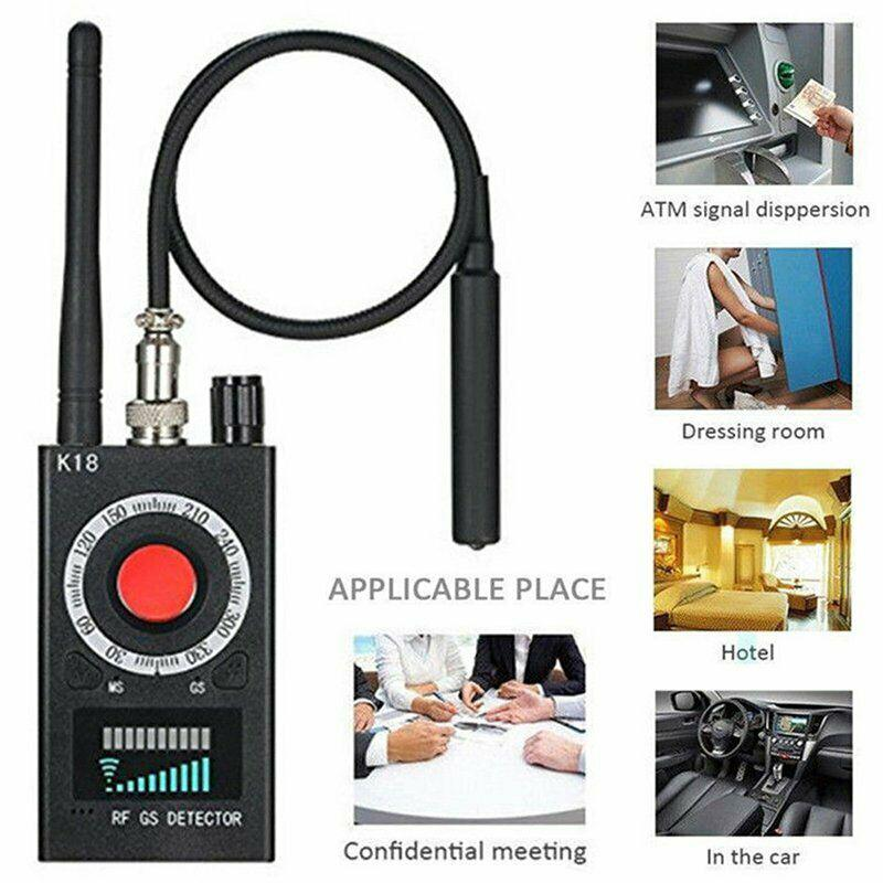 K18 Multi-function Anti Detector Bug Mini Audio SPY-Camera GSM Finder GPS Signal Lens RF Locator Tracker Detect Wireless Camera enlarge