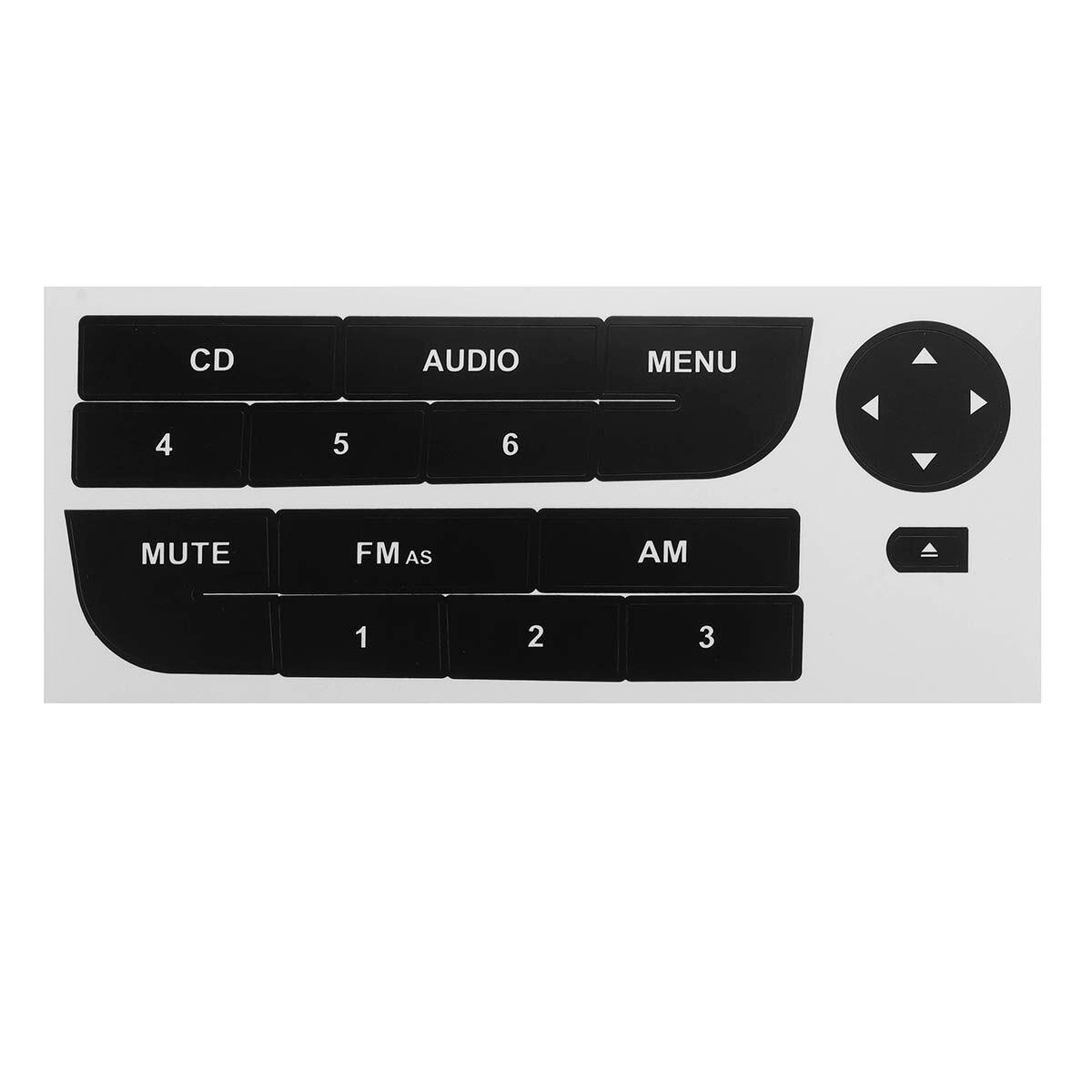Botão de rádio do carro preto adesivo reparo para fiat grand punto rádio estéreo desgastado peeling botão reparação decalques adesivos