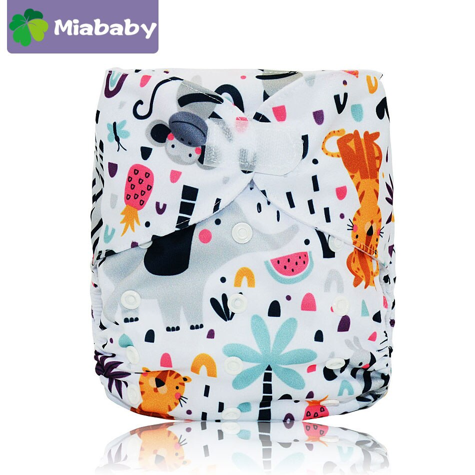 Miababy 10pcs/lot Big XL Pocket Cloth  Diapers for children, Stay-dry Inner Adjustable Size Fits Waist 36-58cm Baby