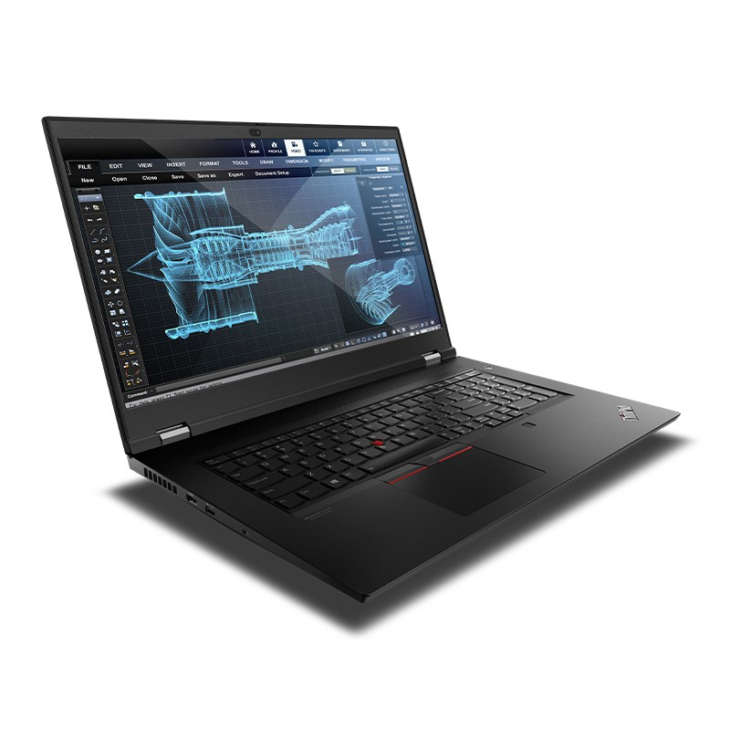Lenovo ThinkPad P17 laptop Intel Xeon processor W-10855M Windows 10 Professional RTX 5000  64GB 2TB 17.3-inch 4K LED backlit