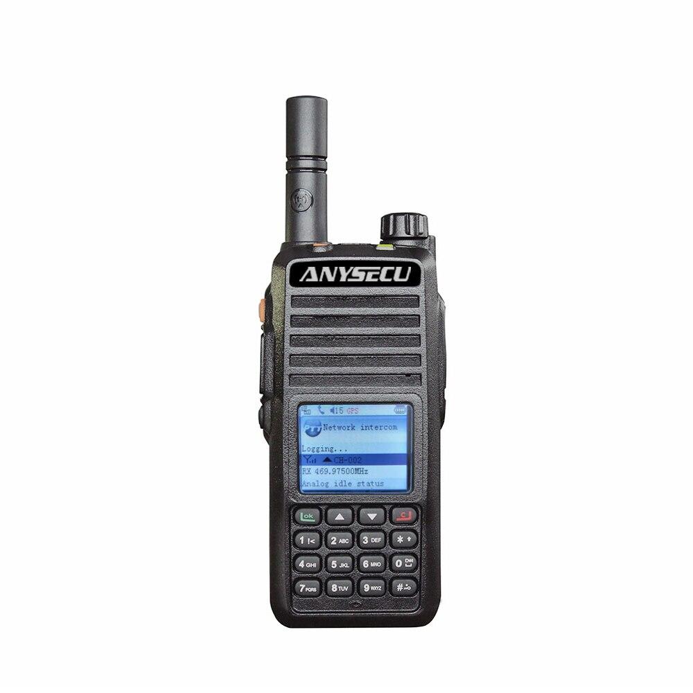 Anysecu 4G Walkie Talkie Radio de G6000 sistema Linux Realptt plataforma UHF 400-470MHz con la ubicación GPS función