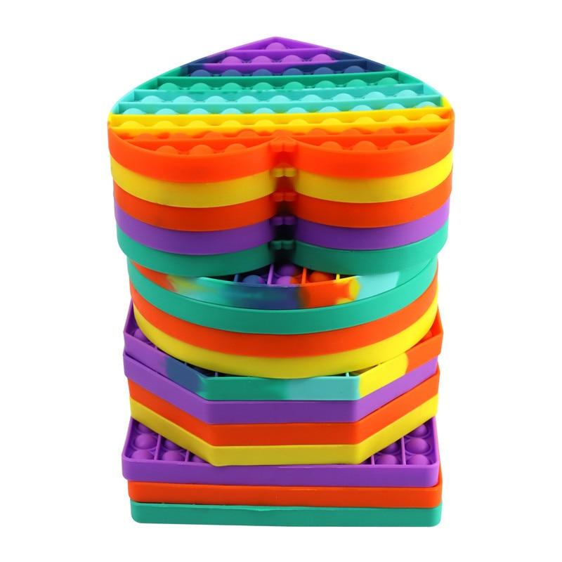 Big Size Pop It Push Bubble Fidget Toys Hot Adult Stress Relief Toy Antistress PopIt Soft Squishy Anti-Stress Gift Box Poppit enlarge