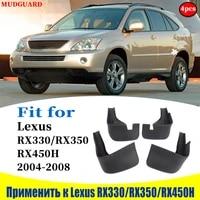 1998 2008 mudflaps for lexus rx330 rx350 rx450h mudguards fender mud flap guard splash mudguard car accessories auto styline
