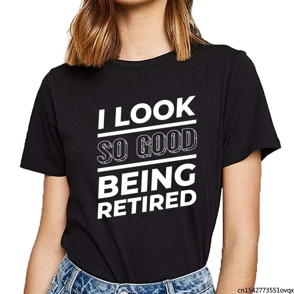 Tops T Shirt Women Pensioner Grandparents Pension Grandma Grandpa Pen Design Female Tshirt