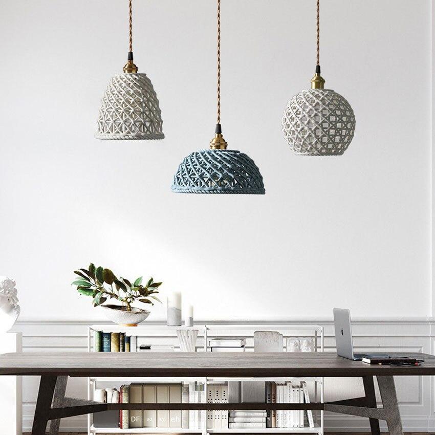 مصباح معلق Led من السيراميك النحاسي ، تصميم حديث ، إضاءة داخلية ، مثالي لغرفة النوم أو البار.